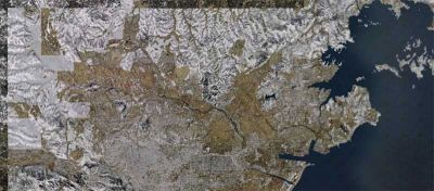 Aerial shot of Matusima Japan Real Scenery.