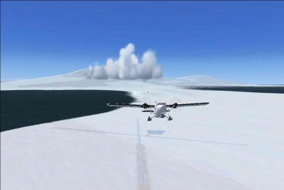 Screenshot of McMurdo Station Scenery.