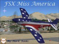 Screenshot of Miss America P-51 in flight.