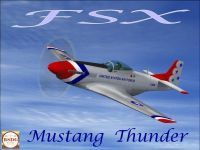 Screenshot of Mustang Thunder in flight.