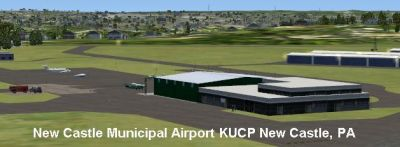 Screenshot of New Castle Municipal Airport Scenery.