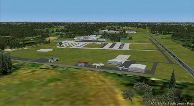 Screenshot of South Jersey Regional Airport Scenery.