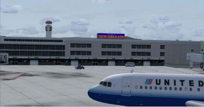 Screenshot of New Orleans International Airport.