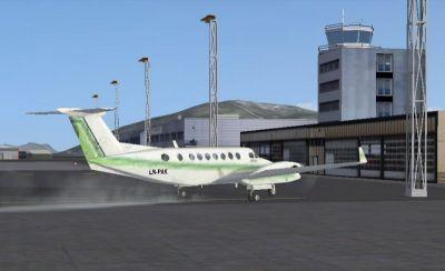 Screenshot of plane at Norway Airport.