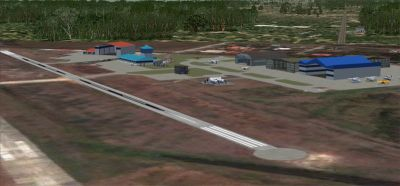 Aerial view of Ogle International Airport Scenery.