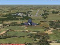 Screenshot of plane flying over Oldenburg Air Base Scenery.