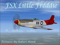 Screenshot of P-51 Little Freddie in flight.