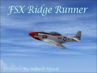 Screenshot of P-51 Ridge Runner in flight.