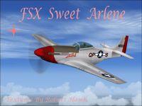 Screenshot of P-51 Sweet Arlene in flight.