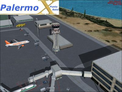 Screenshot of Palermo Punta Raisi Airport.