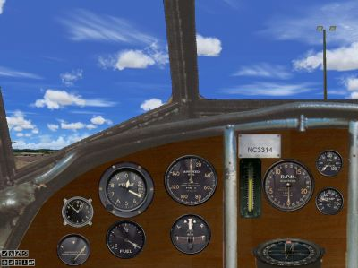 Virtual cockpit of Pan Am Fokker FVIIb-3m.