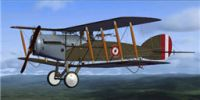 Screenshot of Peruvian Bristol Fighter BF2B in flight.