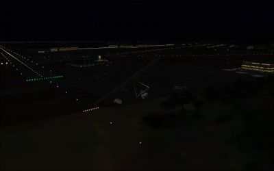 Screenshot of Peterhead Airport Scenery at night.