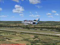 Screenshot of plane flying over Pferdsfeld AB.