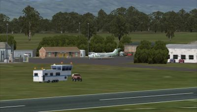 Screenshot of Port Augusta Airport Scenery.