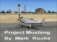Screenshot of Mustang on runway.
