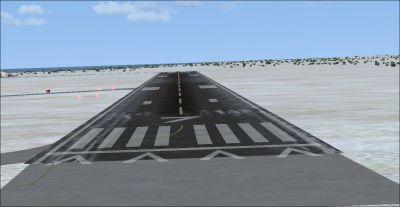 Screenshot of Provincetown Municipal Airport runway.