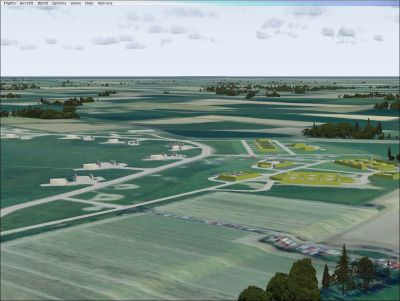 Screenshot of RAF Coltishall Scenery.