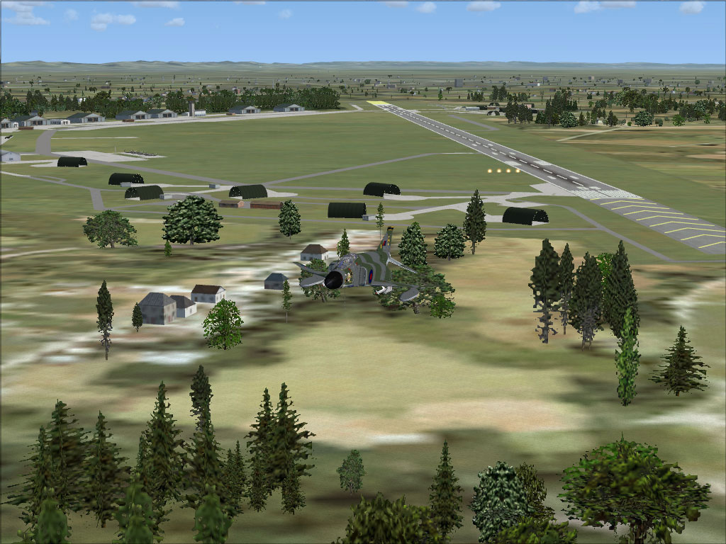 Screenshot of RAF Gutersloh AB Scenery.