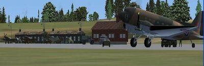 Screenshot of RAF Stronsay Scenery.