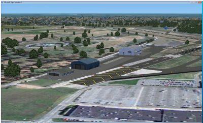 Screenshot of Republic Farmingdale Airport Scenery.