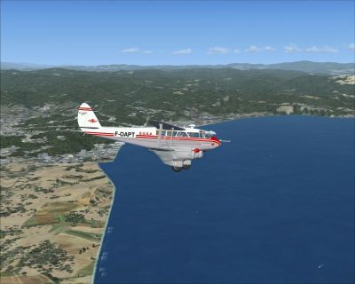 Screenshot of SGAA DeHavilland DH-89 Dragon in the air.