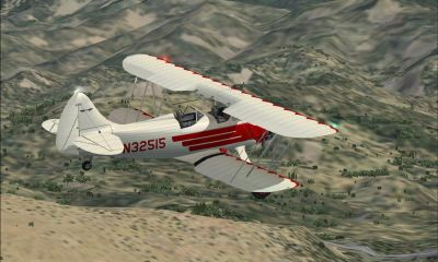 Screenshot of Waco UPF-7 in flight.
