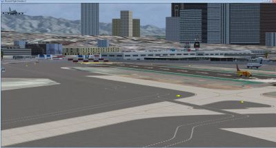 Screenshot of San Diego International Airport Scenery.