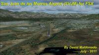Aerial view of San Juan de los Morros Airport Scenery.