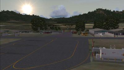 Screenshot of San Juan de los Morros Airport Scenery.