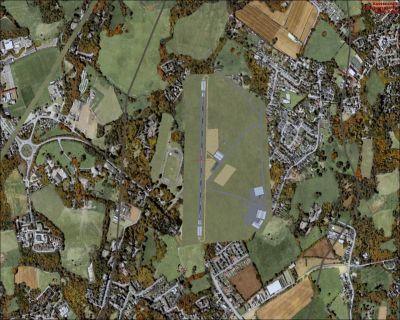 Aerial shot of Saxony Airfields, EDOA.