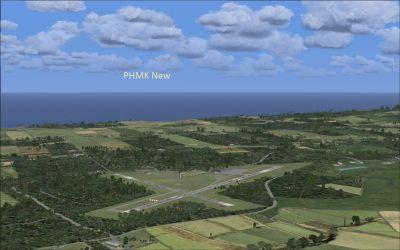 Screenshot of PHMK scenery.