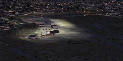 Screenshot of Scenery KISN, ND at night.