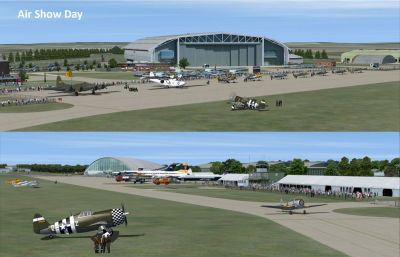Screenshot of IWM Duxford on Air Show day.