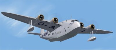 Screenshot of Short Empire 'Canopus' in flight.