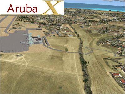 Aerial view of Skara Scenery, Aruba X.