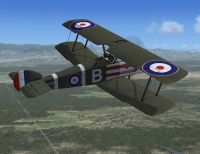 Screenshot of Sopwith Camel in flight.
