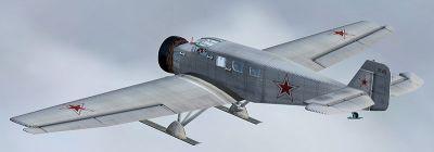 Screenshot of Soviet Air Force Junkers W-34 in flight.