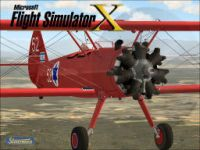 Screenshot of a red Stearman PT-13A.