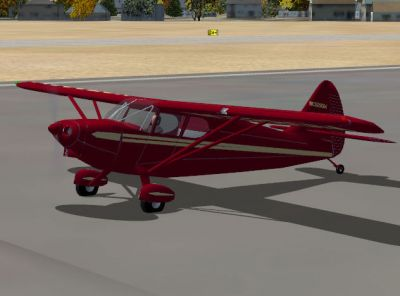 Screenshot of Stinson 108 Voyager on the ground.