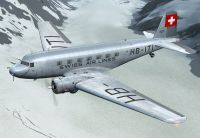 Screenshot of Swissair Douglas DC-2 in flight.