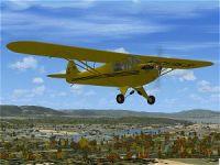 Screenshot of Taylor J-2 Cub in flight.