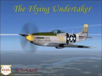 Screenshot of The Flying Undertaker P-51 in flight.