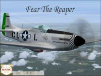 Screenshot of The Grim Reaper P-51 in flight.