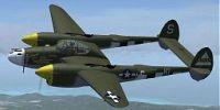 Screenshot of P-38 Lightning in flight.