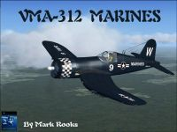 Screenshot of VMA-312 Marines F4U1A Corsair in flight.