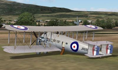 Screenshot of Vickers Vernon II on the ground.