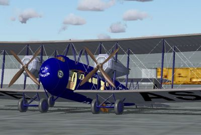 Screenshot of Vickers Vimy Commercial on the ground.