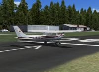 Screenshot of plane on runway at Vogtareuth.