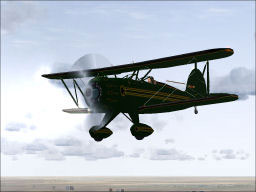 Screenshot of a Waco Classic in flight.